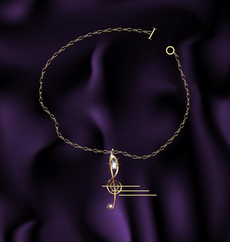 bracelet treble clef