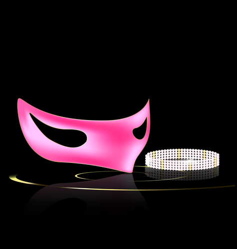 pink mask and jewel