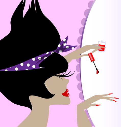 lady and nail polish
