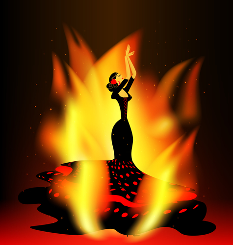 flaming flamenco dance