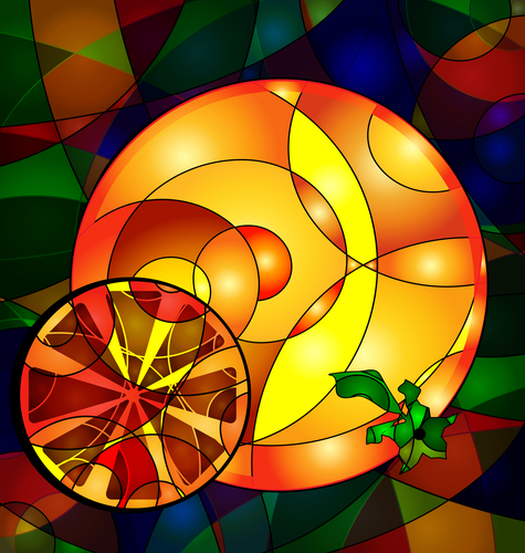 abstract colored image orange