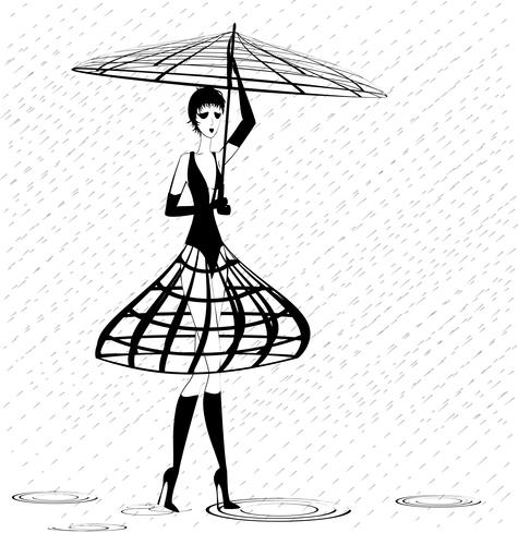 strange girl in the rain